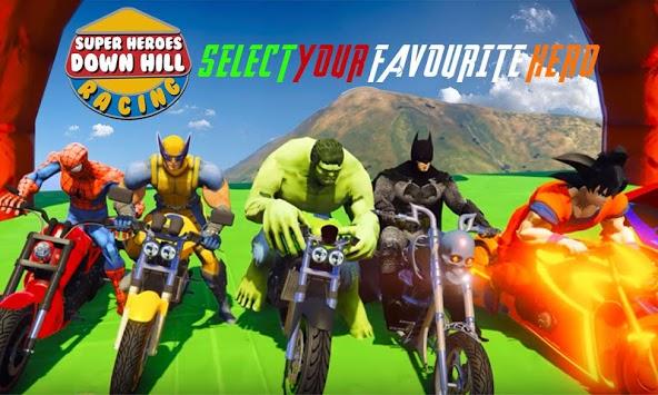 Super Heroes Downhill Racing APK screenshot 1