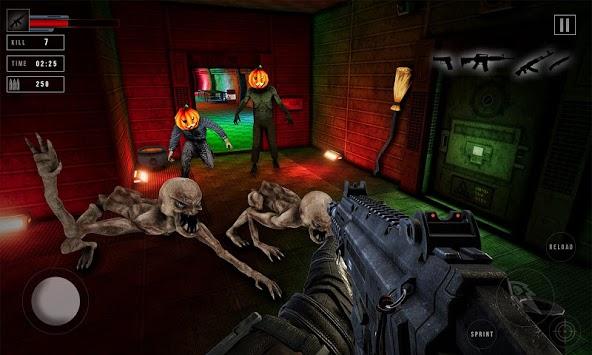 Real zombie hunter - FPS shooting in Halloween APK screenshot 1