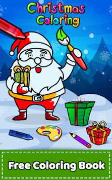 Christmas Coloring Book & Games for kids & family APK screenshot 1