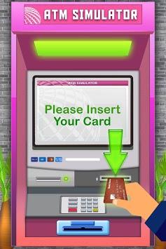 ATM Simulator Virtual Bank Cashier Free Kids Game APK screenshot 1
