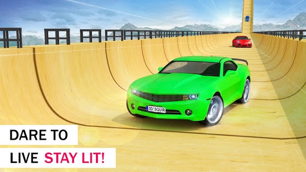 Crazy Car & Impossible Track Racing Ramp Car Stunt APK screenshot 1