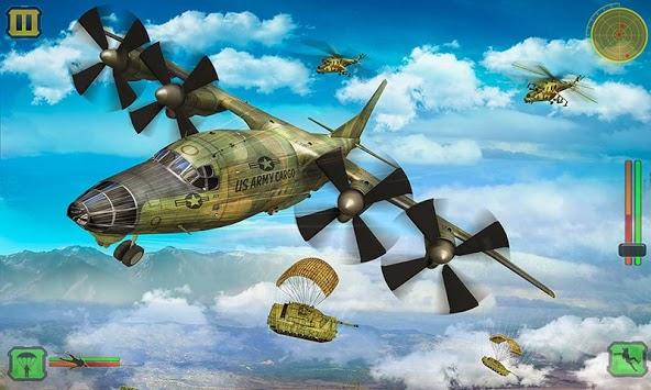 US Army Cargo Transport : Military Plane Games APK screenshot 1