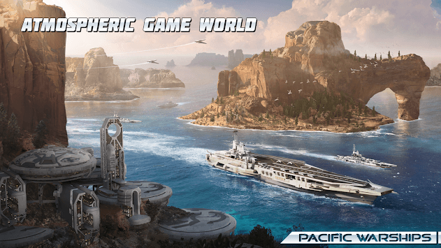 Pacific Warships: Online 3D War Shooter APK screenshot 1