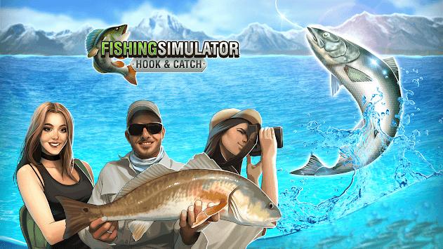 Fishing Simulator: Hook Catch & Hunting Game APK screenshot 1
