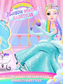 Rainbow Braided Hair Salon-Hairstyle By Number APK screenshot 1