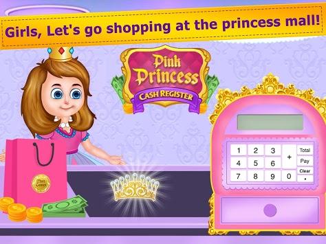 Pink Princess Cash Register - Cashier Girl Games APK screenshot 1