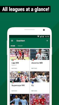 Football Live Scores Mexico 2018 - GoalAlert APK screenshot 1