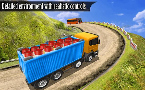 Indian Truck Spooky Stunt : Cargo Truck Driver APK screenshot 1