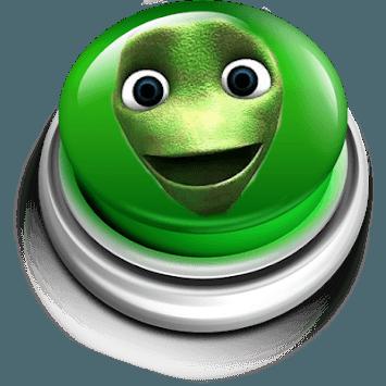 Green alien dance button APK screenshot 1