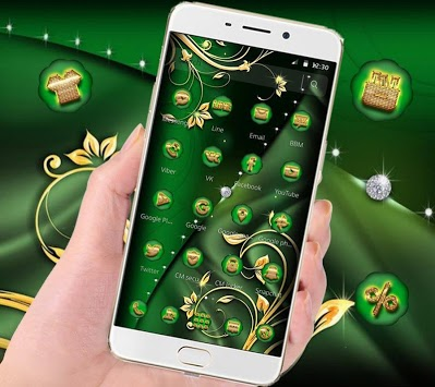 Green Gold Luxury Business Theme APK screenshot 1