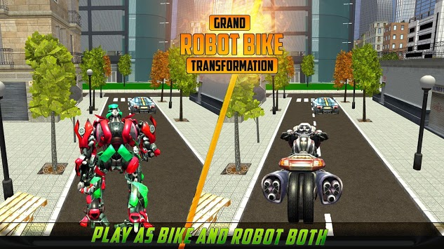 US Robot Bike Transform Shooting Game APK screenshot 1
