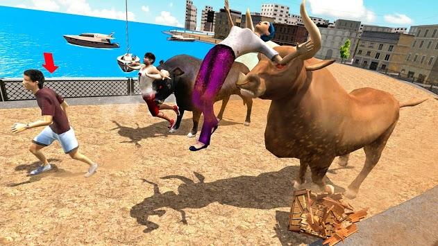 Angry Bull Attack Wild Hunt Simulator APK screenshot 1