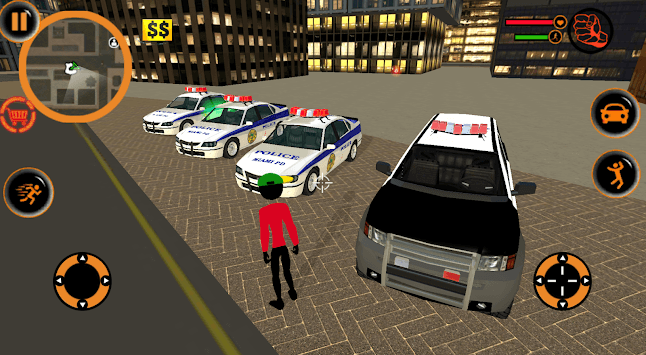 Grand StickMan Vegas Mafia Crime theft car driver APK screenshot 1