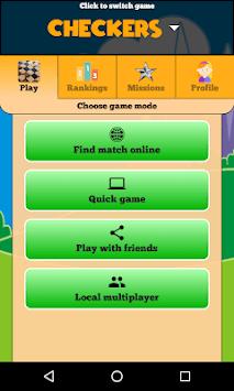 Checkers Online - Duel friends online! APK screenshot 1