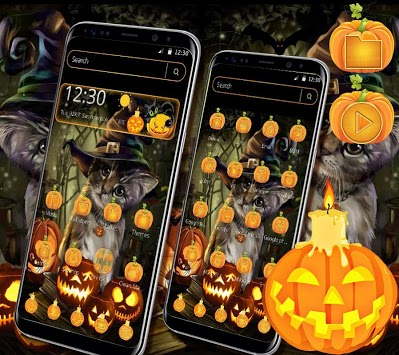 Halloween Cat Theme APK screenshot 1