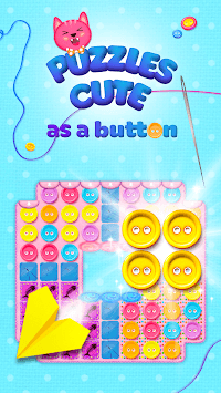 Button Cat: match 3 cute cat puzzle games APK screenshot 1