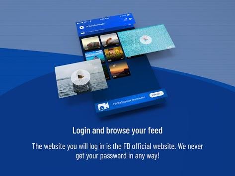 Video Downloader - Video Manager for facebook APK screenshot 1