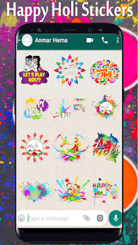 Holi Stickers For Whatsapp - WAStickers APK screenshot 1