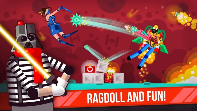 Ragdoll Rage: Heroes Arena APK screenshot 1