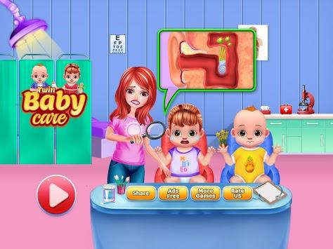 Twin Baby Care Nanny Nursery APK screenshot 1