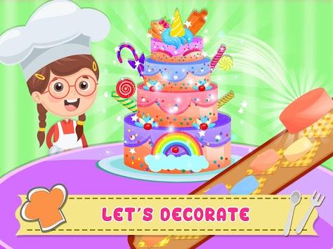 Unicorn Cake Donut Maker Baking Kitchen APK screenshot 1