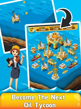 Oil Tycoon 2 - Idle Clicker Factory Miner Tap Game APK screenshot 1