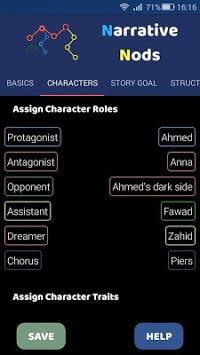 Narrative Nods – Plot Development Tool for Authors APK screenshot 1