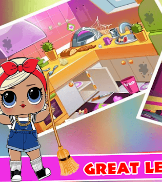 LOL Surprise Game Doll House Cleaning APK screenshot 1
