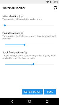 Waterfall Toolbar Sample APK screenshot 1