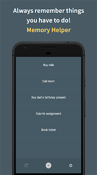 Memory Helper : To do list notepad APK screenshot 1