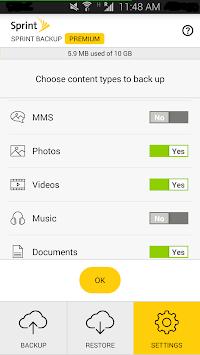Sprint Backup APK screenshot 1