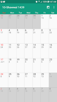 Hijri Calendar APK screenshot 1