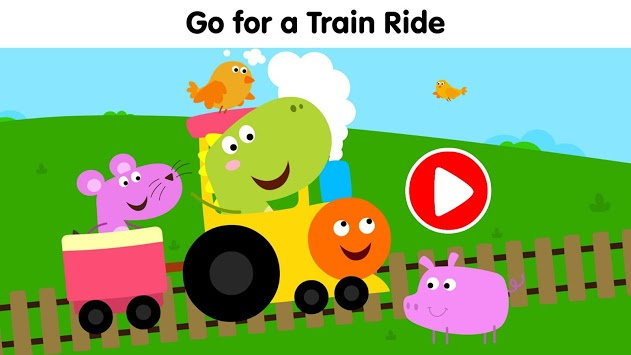 Dinosaur Train Game–Dino games for kids & toddlers APK screenshot 1