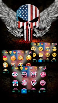 American Skull Mask Keyboard Theme APK screenshot 1