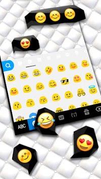 Black White Business Keyboard Theme APK screenshot 1