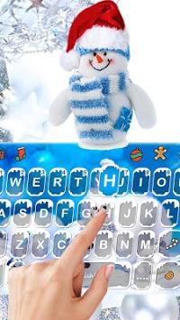 Blue Christmas1 Keyboard Theme APK screenshot 1