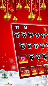 Christmas Minny Keyboard Theme APK screenshot 1