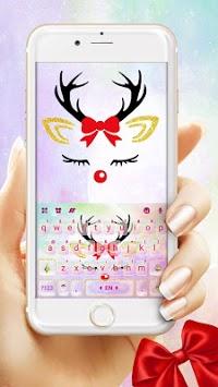 Christmas Reindeer Keyboard Theme APK screenshot 1