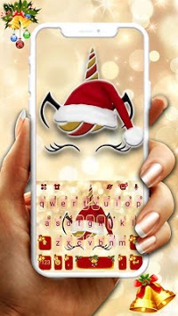 Christmas Unicorn Keyboard Theme APK screenshot 1