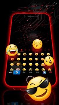 Neon 3D Red Keyboard Theme APK screenshot 1