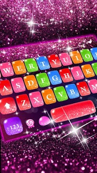 Colorful Glitter Keyboard Theme APK Download For Free