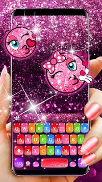 Colorful Glitter Keyboard Theme APK screenshot 1