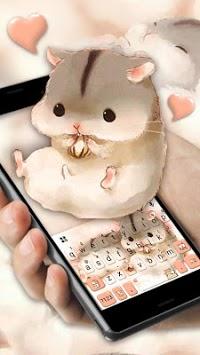Cute Furry Hamsters Keyboard Theme APK screenshot 1