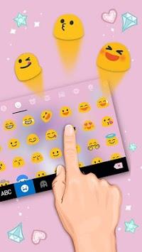 Cute Pink Unicorn Keyboard Theme APK screenshot 1
