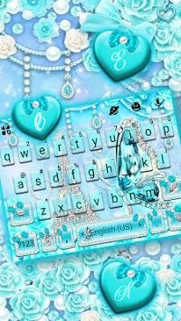 Diamond Paris Butterfly Keyboard Theme APK screenshot 1