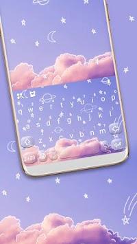 Doodle Sky Keyboard Theme APK screenshot 1