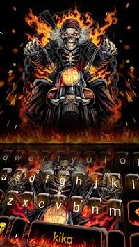 Fire Skull Rider Keyboard Theme APK screenshot 1