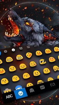 Flaming Wolf Keyboard Theme APK Download For Free