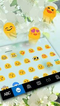 Girly Charming Floral Keyboard Theme APK screenshot 1