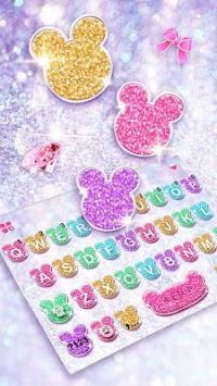 Girly Glitter Minny Keyboard Theme APK screenshot 1